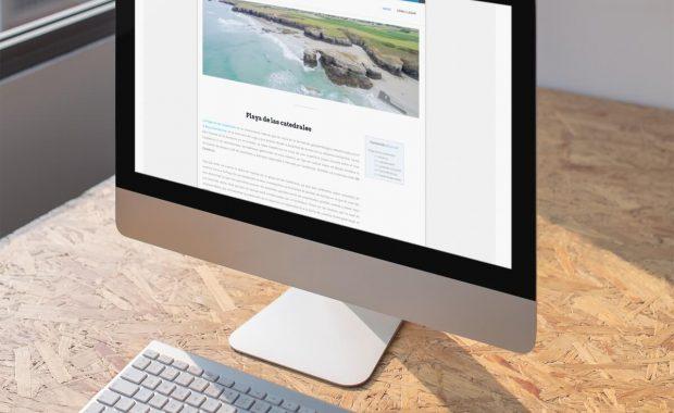 proyecto web de la playa de las catedrales