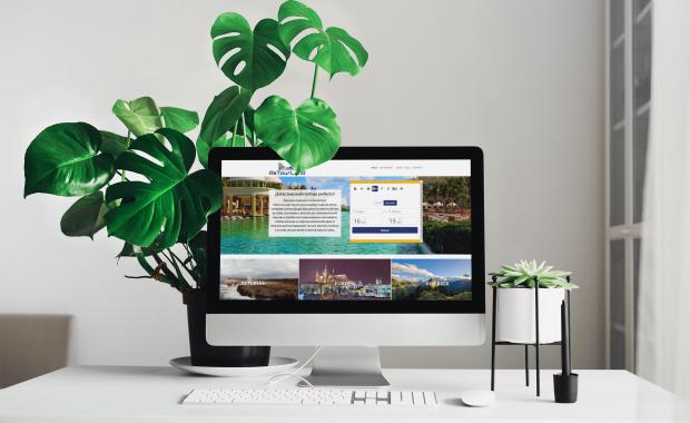 Página web de agencia de viajes